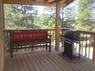 Deck with grill for renter's use. Propane provided.