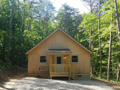 Photo for Cozy cabin that sleeps 6 in the heart of Hocking Hills. One night stays allowed.