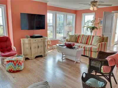 Photo for 4 Bedroom, 2.5 Bath,  sleeps 8,  Ocean View, Large Family Room and Sunroom
