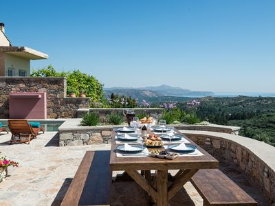 Photo for Traditional Renovated villa Liodosifis with Heated Private Pool+Jacuzzi+BBQ+view