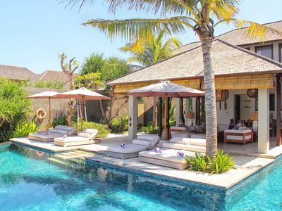 Photo for Absolute 3 Bedroom Beach Front Villa in Pabean Beach