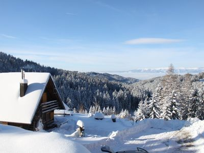 Photo for Cozy chalet with sauna, absolutely secluded in the forests of the Koralpe, near the village of St. G