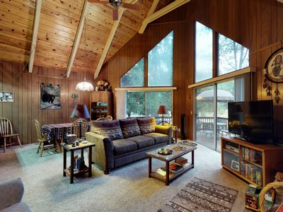 Photo for Beautiful cabin with large deck and wrap-around deck, near hiking and skiing!