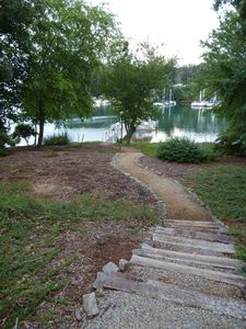 Path from the house to the dock