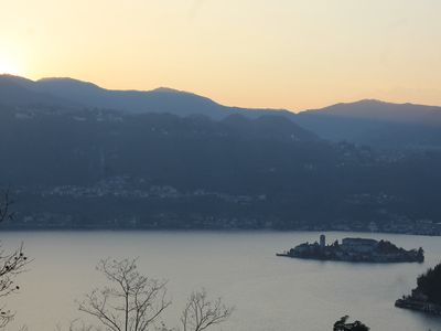 Photo for A long balcony overlooking Lake Orta