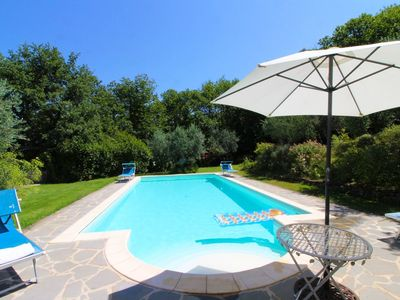 Photo for Stunning private villa for 4 guests with WIFI, A/C, private pool, TV and parking, close to Arezzo