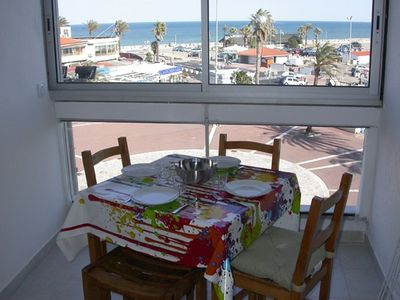 Photo for Studio, 4px, great view of the marina, 66750 St Cyprien beach. 250 € week