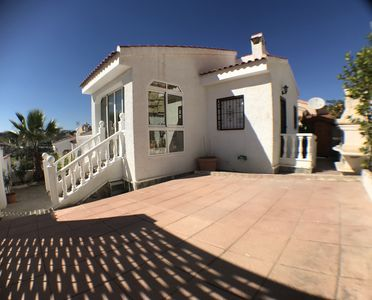 Photo for 2 bed detached villa with sun terrace, short walk from La Marquesa golf