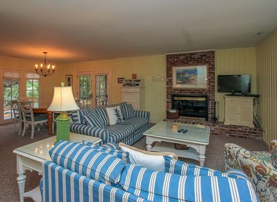 Dining Room and Living Room at 4 Cedar Wax Wing in Sea Pines
