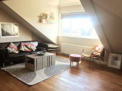 Photo for Cozy open plan loft flat. Ideal home from home for couples or solo travellers.