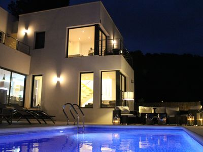 Photo for Stylish Modern Villa With Private Heated Pool In Peaceful Location with A/C