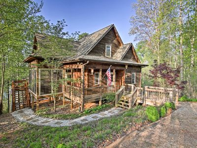 Photo for Waterfront Lake Hartwell Cabin w/Dock-Near Clemson