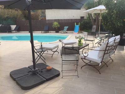 Photo for Villa with swimming pool 15 minutes from the first beaches, 15 minutes from Cannes