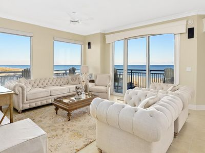 Photo for Stunning 4-BR Luxury Oceanfront - Umbrella & 6 Beach Chairs Included!