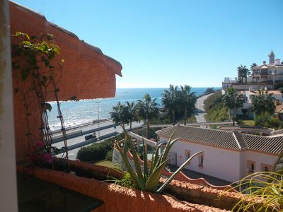 Photo for Beachfront apartment with sea views on the Costa del Sol