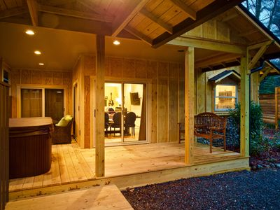 Photo for Sparkling clean, contemporary cabin w/ hot tub near downtown Black Mountain