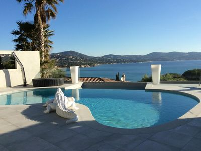 Photo for Superb villa with pool Ste Maxime, sea view and 100 m from the beach