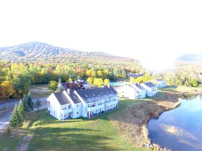 A birds eye view from a portion of Snowbrook , w/ trout pond & mtn views!