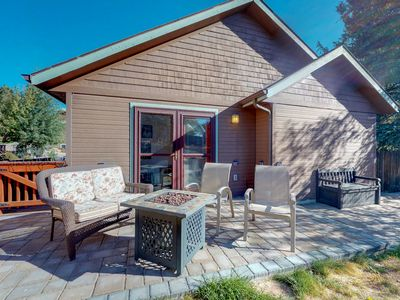 Photo for NEW LISTING! Cozy cabin for two with private hot tub and central location
