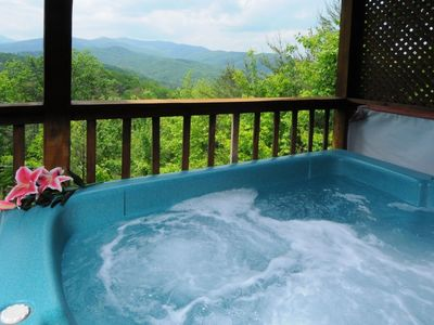 Photo for There is nothing better than getting away to a romantic cabin in Gatlinburg with fanastic views.