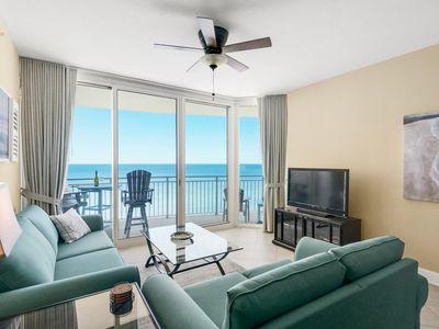 Photo for AQUA 1411 LUXURY CONDO - NEWLY REMODELED!  BEACH CHAIRS! BREATHTAKING VIEWS!