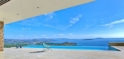 Photo for NafplioBlu - Villa for 6-8 with amazing sea and valley views + infinity pool