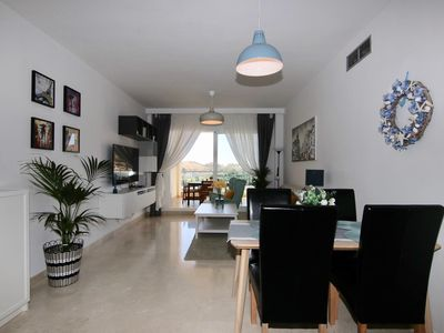 Photo for Arana of Mijas. Luxury apartment 130m2 with large terrace .Mar, golf and mountain