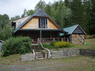Photo for Log cabin in the woods get away, cell service 10 minutes by car!