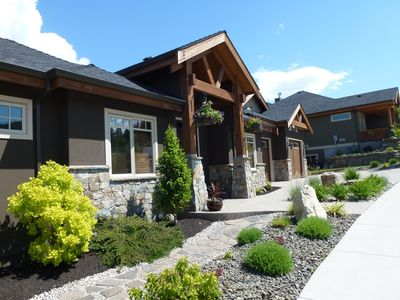 Front exterior of the vacation rental, suite on the lower leval