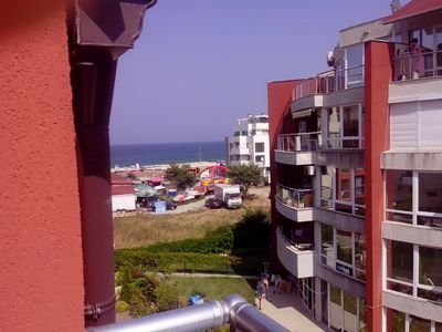 Photo for 1-bedroom apartment with sea/pool view near the beach in Sozopol, hotel Onegin