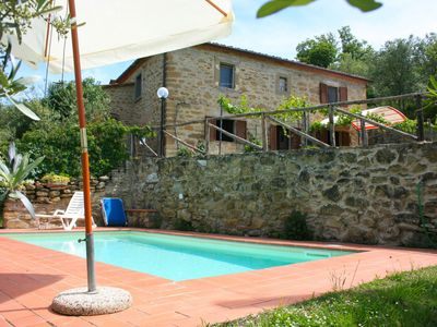 Photo for Beautiful private villa with WIFI, private pool, pets allowed and parking, close to Cortona