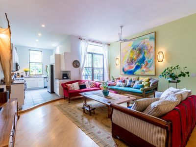 Photo for Duplex in a Townhouse in Harlem Perfect for Family Gathering