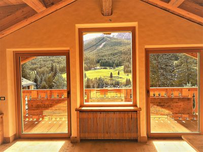 Photo for LUXURY PENTHOUSE, 5 MINUTES FROM THE CORTINA D'AMPEZZO CENTER, PANORAMA ON THE DOLOMITES