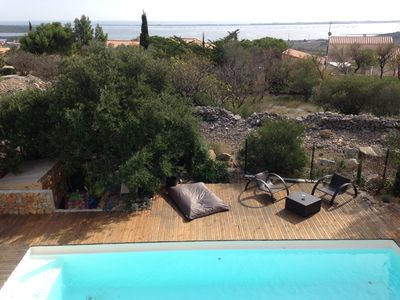 Photo for Modern villa pool sea view 8 pers