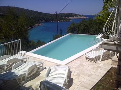 Photo for A2 Studio Apartment of Villa Sonia & Teo, Hvar,Croatia with heated,infinity pool