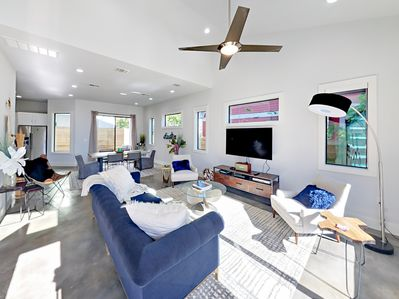 Living Room - Welcome to Austin! Your stylish home is professionally managed by TurnKey Vacation Rentals.