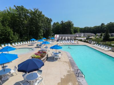 Photo for Sweet cottage w/ sun room & shared pool, hot tub, gym & more - close to beaches!