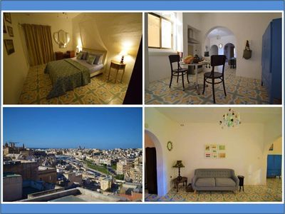 Photo for Boutique Maltese apartment - character, views, A/C