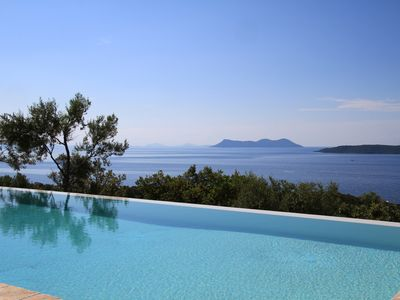 Photo for Villa Nisi, brand new, stunning sea view, infinity pool Wifi