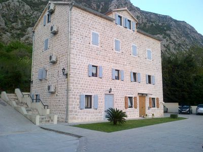 Photo for Luxury penthouse in traditional stone villa overlooking Kotor Fjord