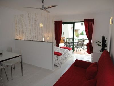 Photo for Bright studio in Tenerife, with terrace, pool, internet wi-fi fiber