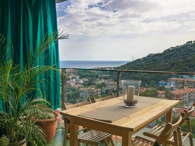 Photo for Stunning Beachview Apartment With Pool Close To Barcelona And Sitges