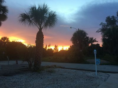 Incredible sunsets from front porch - even better from the beach! Come see!