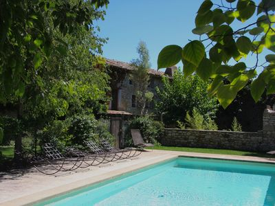 Photo for Magnificent Provencal farmhouse in medieval village 8 km from Uzes