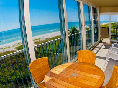 Photo for Newly Updated Two Bedroom Gulf Front Condo, Sanibel Surfside 132