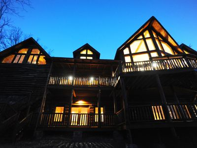 Photo for Luxury Mountain Lodge with Soaring Views - 5,000 Sq