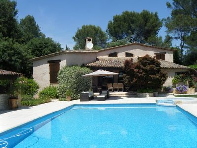 Photo for Villa with modern equipment and large swimming pool (7x14)