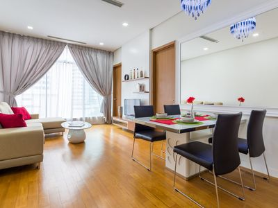 Photo for 3 minutes walking to Pavilion & KLCC, 2BR for 4-5 pax, Cozy & Clean Apartment