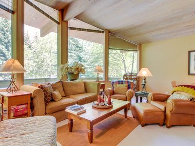 Photo for Secluded family home near the slopes of Bald Mountain with private hot tub!