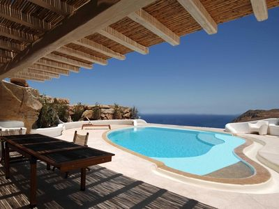Photo for ~Villa Regalior Mykonos, 9 Bedrooms 8 Bathrooms Private Pool in a  distance of 4km from the Town of Mykonos Up to 18 Guests